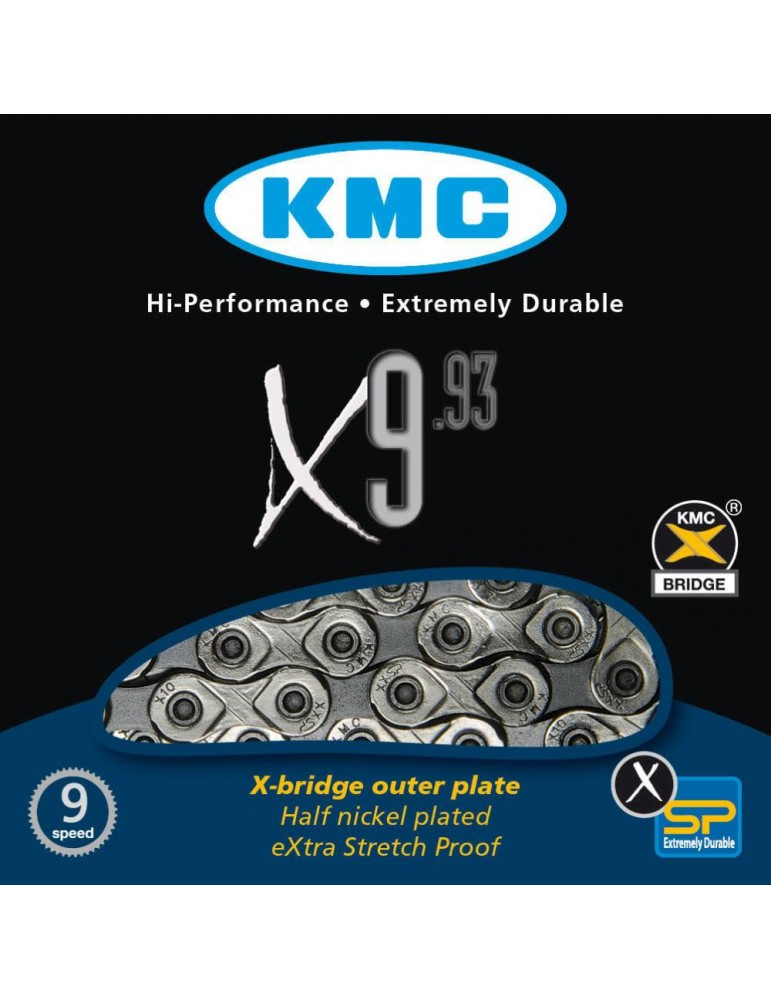 Chain KMC X9-93 SILVER-GREY