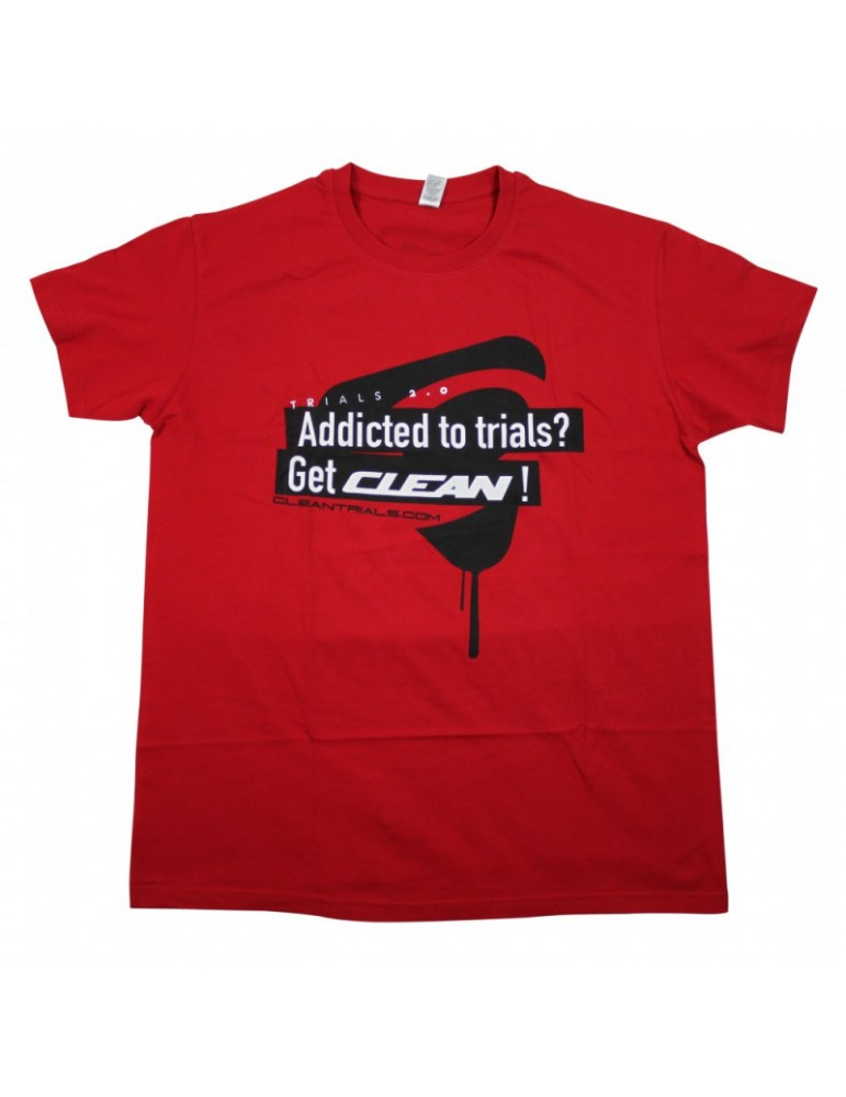 T-Shirt with short sleeve CLEAN TRIALS | red | adult