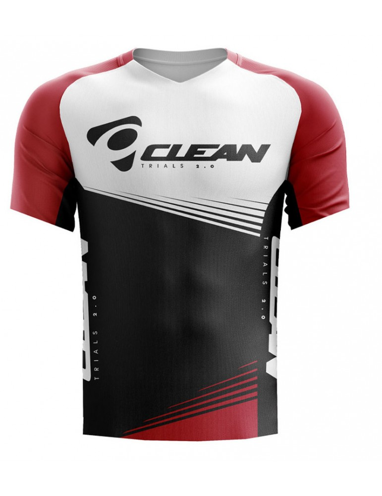 Bike jersey CLEAN TRIALS BT X1 | red-white