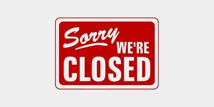 WE ARE CLOSED TILL 14.8.2020