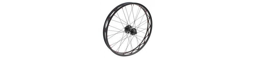 Wheels, rims, hubs, spokes for trials bikes. Singlewall ligh rims.