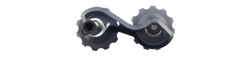 Chain tensioners for trials bikes. Vertical and horizontal dropouts.