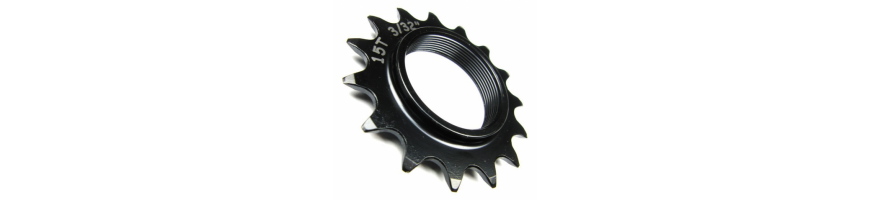 Sprockets singlespeed for trials bikes. Screw-on or splined Cr-Mo.