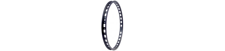 "Front singlewall trials 20"" rims with 28 and 32 holes. CREWKERZ, CLEAN"